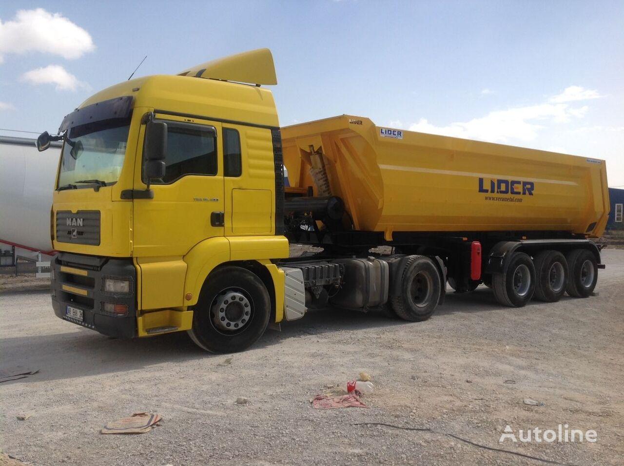 جديدة العربات نصف المقطورة شاحنة قلابة LIDER 2017 NEW DIRECTLY FROM MANUFACTURER COMPANY AVAILABLE IN STOCK