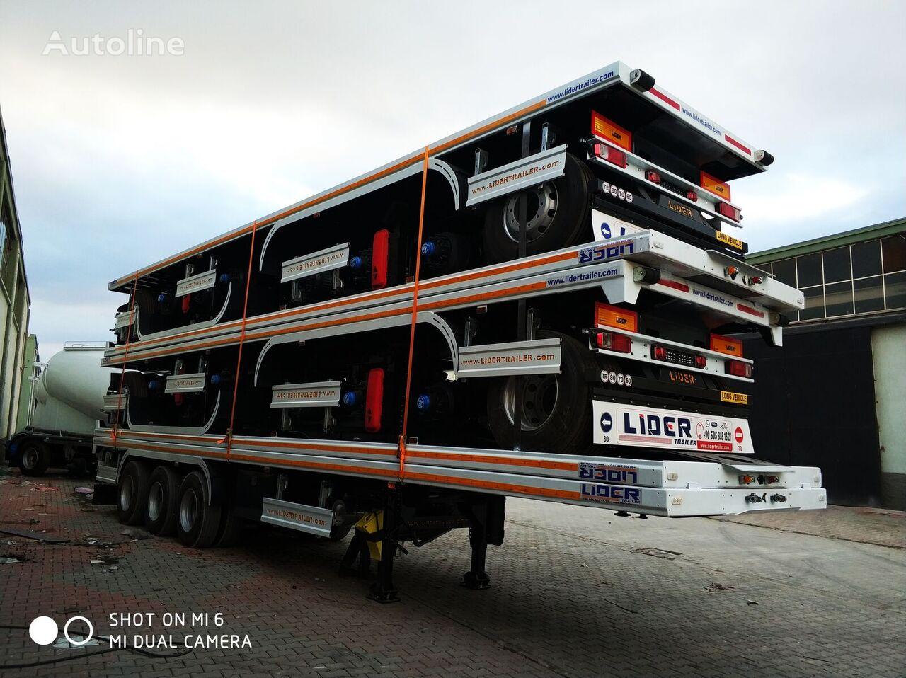 جديدة العربات نصف المقطورة شاحنة نقل الحاويات LIDER NEW 2020 MODELS YEAR (MANUFACTURER COMPANY LIDER TRAILER