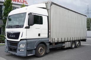 شاحنة ذات أغطية جانبية MAN TGX 26.440 XLX , E6 , 6X2 , MEGA , 19 EPAL , RSAS system