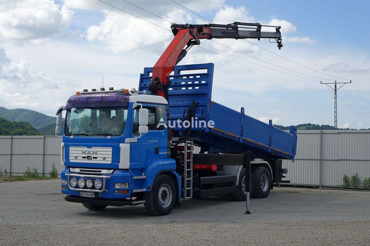 شاحنة قلابة MAN TGA 26.400 Kipper 6,40 m + Kran* 6x4 Topzustand!