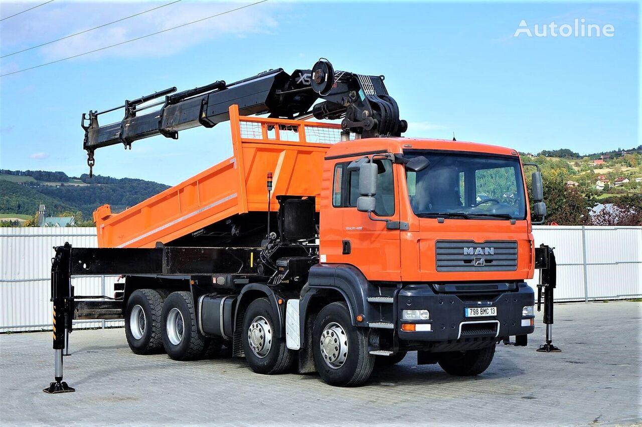 شاحنة قلابة MAN TGA 35.400 Kipper 5,00 m + KRAN HIAB 600 * 8x4!