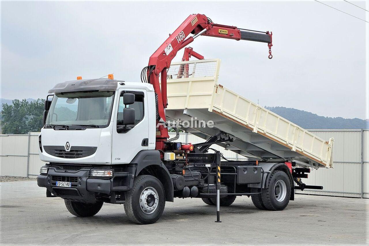 شاحنة قلابة RENAULT Kerax 370 DXI* Kipper 5,80 m + Kran Topzustand!