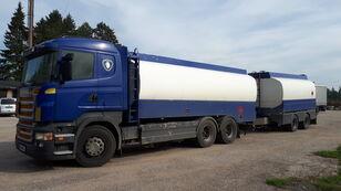 شاحنة نقل الوقود SCANIA R420 6x2 fuel tank + عربة الصهريج لنقل الوقود ومواد التشحيم
