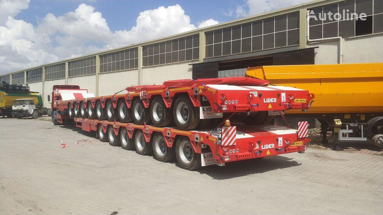 جديدة العربات نصف المقطورة عربة مقطورة مسطحة منخفضة LIDER 2020 model 150 Tons caapcity Lowbed semi trailer