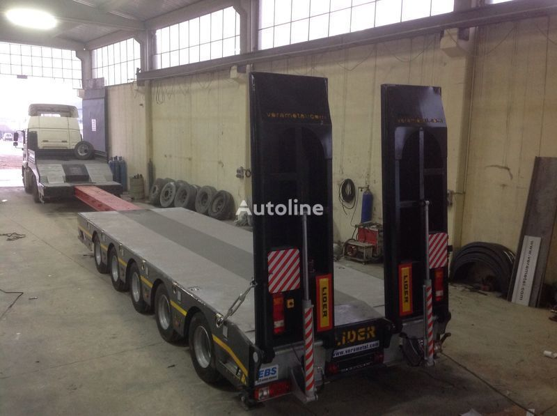 جديدة العربات نصف المقطورة عربة مقطورة مسطحة منخفضة LIDER NEW 2020 model new by manufacturer Lider Trailer