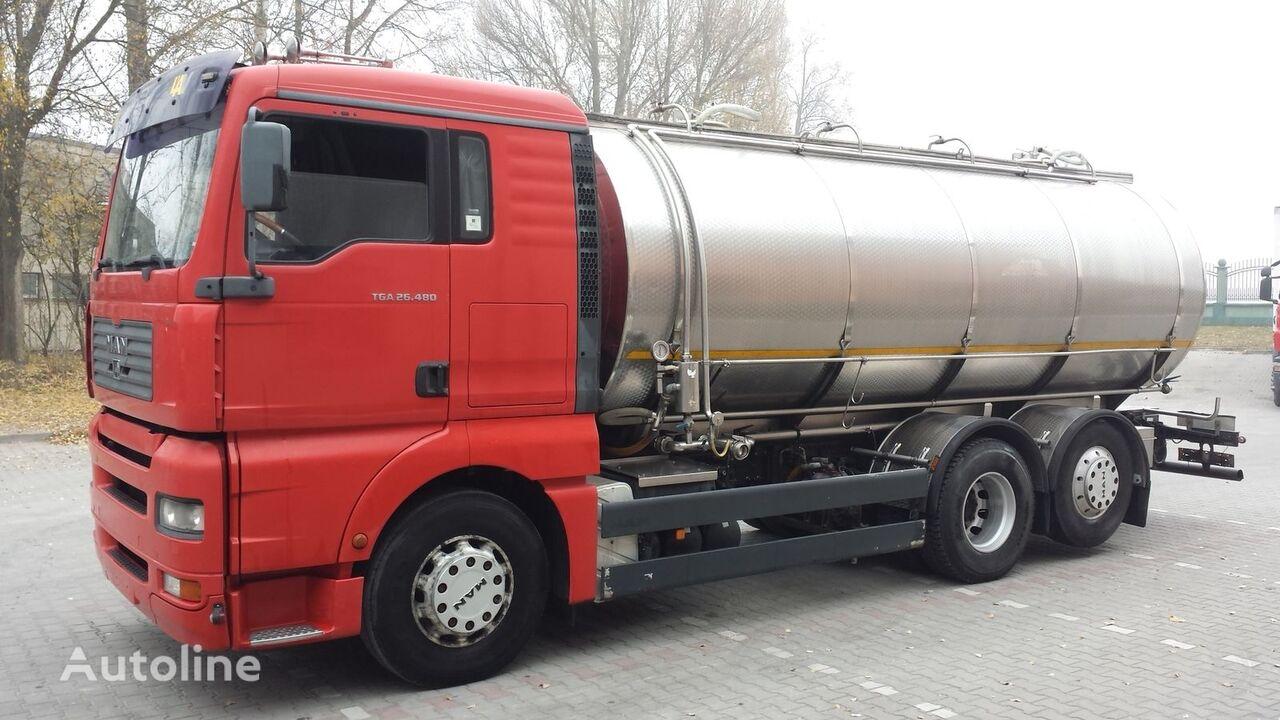 شاحنة نقل الألبان MAN TGA 26.480 Cysterna Spożywcza