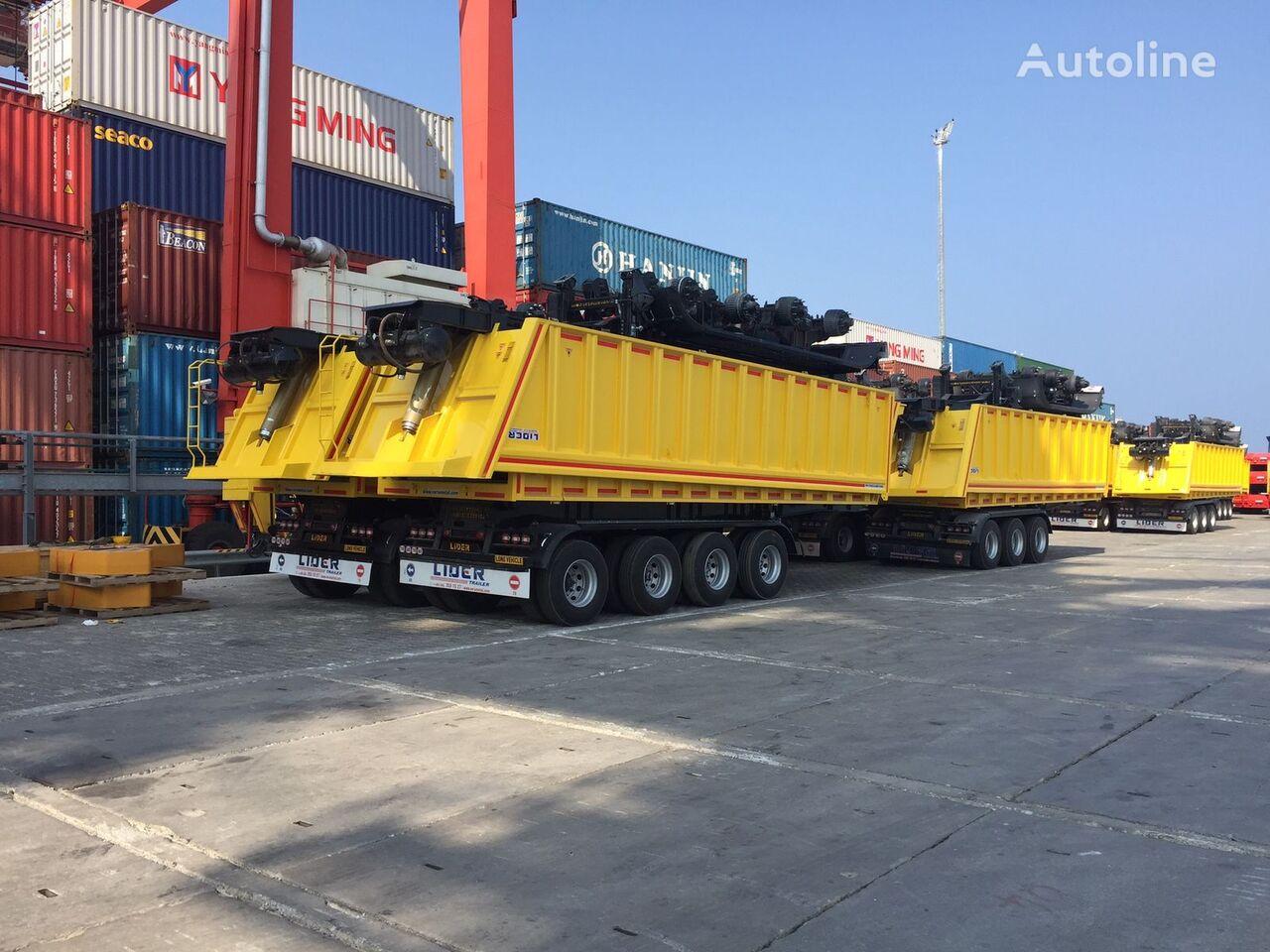 جديدة العربات نصف المقطورة شاحنة قلابة LIDER 2019  new dumper from manufacturer company LIDER TRAILER