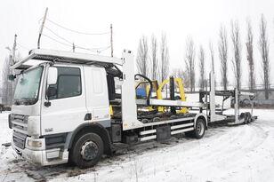 شاحنة نقل السيارات DAF CF 75 360 , E5 , 4x2 ,MEGA , LOHR , retarder , sleep cab + العربات المقطورة شاحنة نقل السيارات
