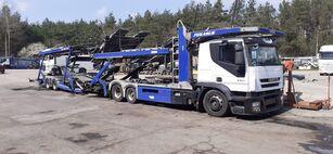 شاحنة نقل السيارات IVECO + العربات المقطورة شاحنة نقل السيارات