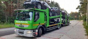 شاحنة نقل السيارات RENAULT Premium 410 + العربات المقطورة شاحنة نقل السيارات