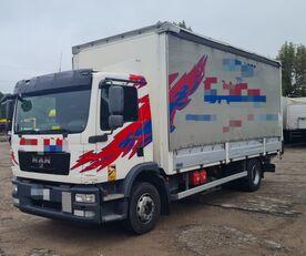 شاحنة ذات أغطية جانبية MAN TGM 15.250 from FR, 214000 km