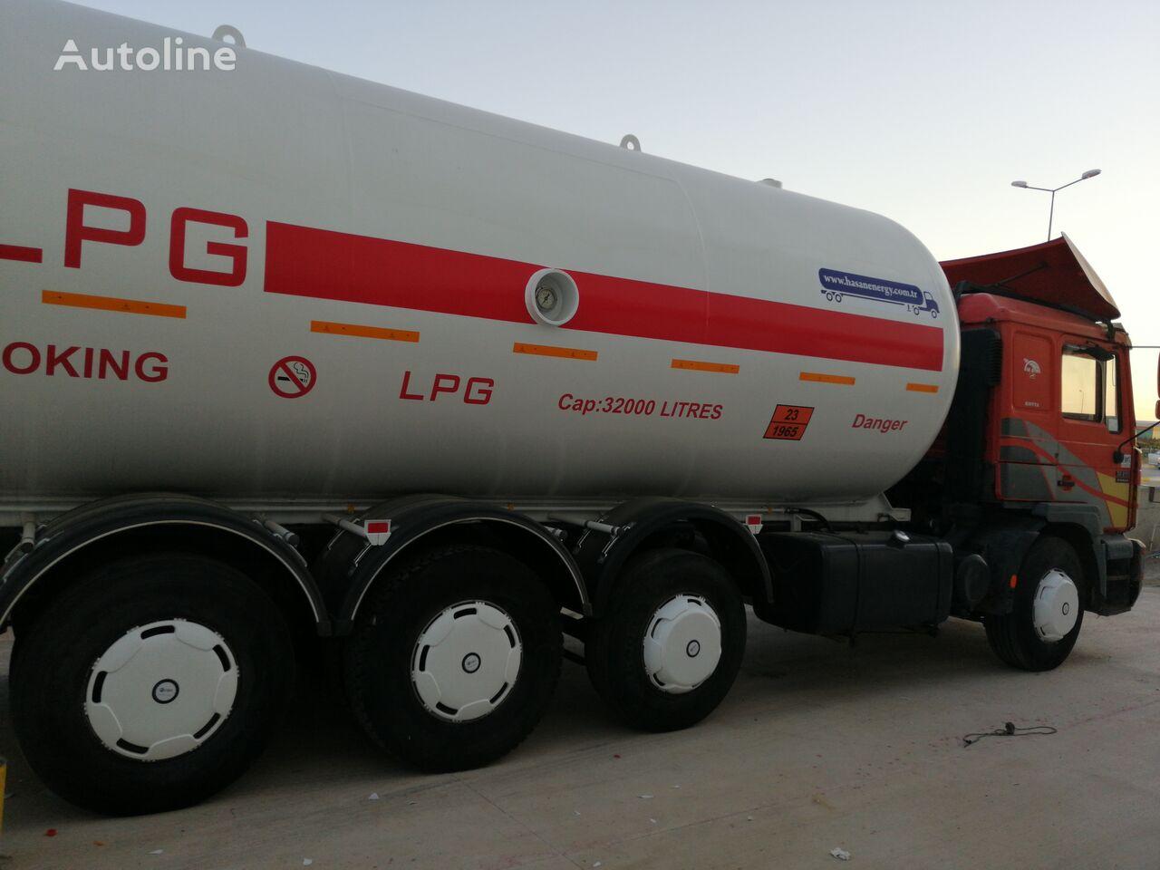 شاحنة نقل الغاز MAN TOP SYSTEM NEW BUILDED 32000L And 24000L LPG Bobtail LAST ONE IN