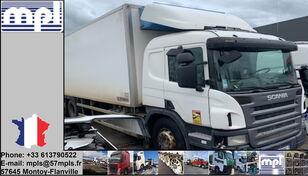 شاحنة التبريد SCANIA P340 بعد وقوع الحادث