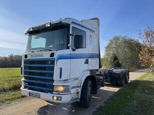 شاحنة نقل الأخشاب SCANIA 144 460 HP 6x4 Retarder
